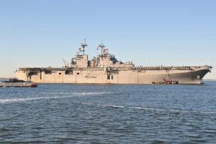 Amphibious assault ship USS Wasp.の写真素材 [FYI02107881]