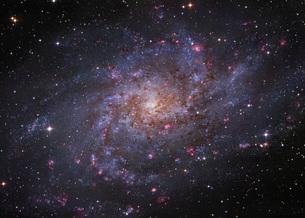 Messier 33, spiral galaxy in Triangulum.の写真素材 [FYI02107975]