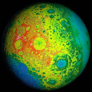 Lunar topography globe.の写真素材 [FYI02107988]