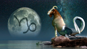 Capricorn is the tenth astrological sign of the Zodiac.のイラスト素材 [FYI02108116]