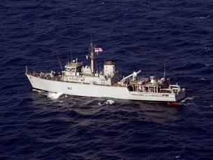 The Royal Navy mine countermeasures ship HMS Quorn.の写真素材 [FYI02108129]