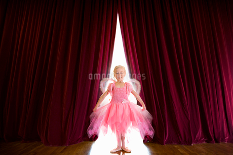 Ballerina posing on stageの写真素材 [FYI02112051]