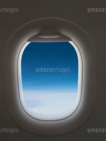 View of sky from airplane windowの写真素材 [FYI02115069]