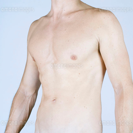 A male nude, mid sectionの写真素材 [FYI02118578]