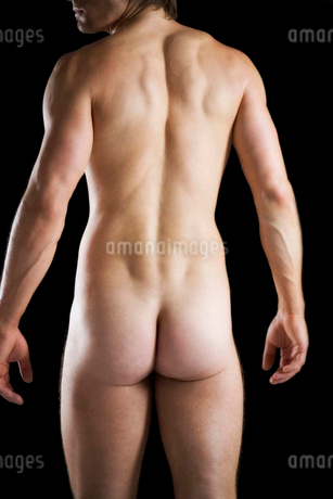 A male nude, back viewの写真素材 [FYI02120618]