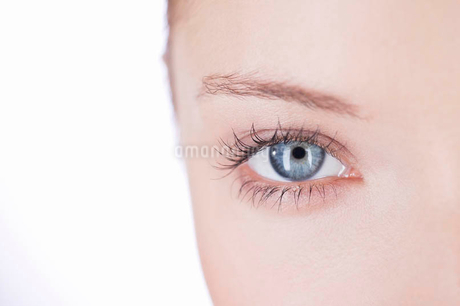 Close-up of a woman's right eyeの写真素材 [FYI02121550]