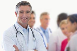 Portrait Of Medical Team In Modern Hospitalの写真素材 [FYI02122477]