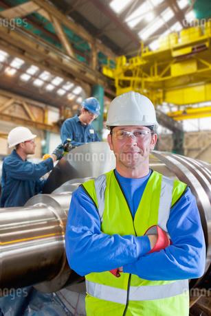 Portrait Of Worker In Steel Millの写真素材 [FYI02123846]