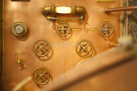 Fittings on wall of brewery in Traunstein, Bavaria, Germanyの写真素材 [FYI02124198]