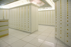 Strongroom in a bankの写真素材 [FYI02125806]