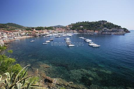 Scenic view of Bay of Porto Azurro, Island of Elba, Tuscany, Italyの写真素材 [FYI02125917]
