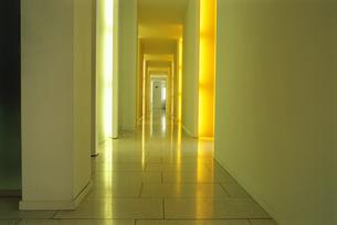 Detail view of a hallway with light shining in through doorwaysの写真素材 [FYI02126094]