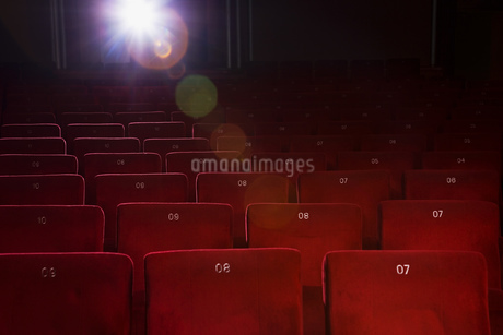 Seating in empty movie theaterの写真素材 [FYI02127991]