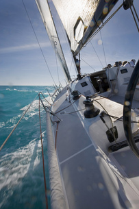 Close-up of side of sailboat in Key West, Florida, USAの写真素材 [FYI02130008]