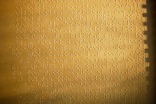 Close up of page of Brailleの写真素材 [FYI02130497]