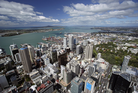 View from Sky Tower, Auckland, New Zealandの写真素材 [FYI02130897]