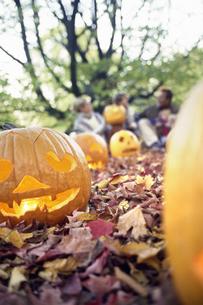Jack-o-lanternsの写真素材 [FYI02131315]