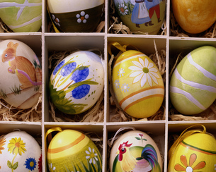 Decorated Easter eggsの写真素材 [FYI02131595]