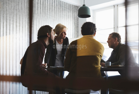 Creative business team discussing in board room at officeの写真素材 [FYI02142444]