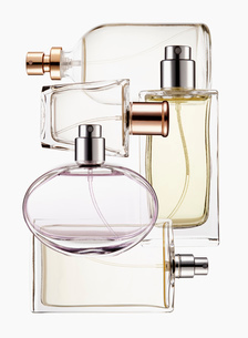 Close up of perfume bottlesの写真素材 [FYI02145348]