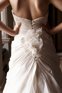 Close up of bride's gownの写真素材 [FYI02148092]