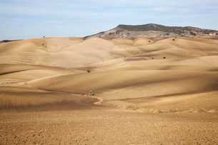 Dirt road in dry rural landscapeの写真素材 [FYI02149953]