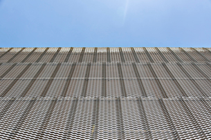 Close up of textured wall on modern buildingの写真素材 [FYI02154066]
