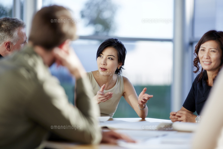 Business people talking in meetingの写真素材 [FYI02154421]