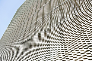 Close up of textured wall on modern buildingの写真素材 [FYI02155084]