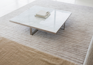 Coffee table in modern living roomの写真素材 [FYI02155120]