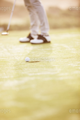 Man putting on golf courseの写真素材 [FYI02155835]
