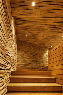 Wooden staircaseの写真素材 [FYI02160796]