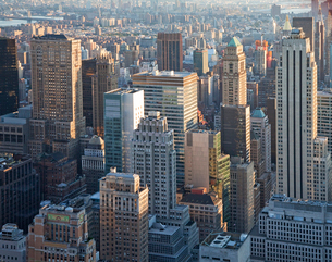 New York City skyline, New York, United Statesの写真素材 [FYI02162131]