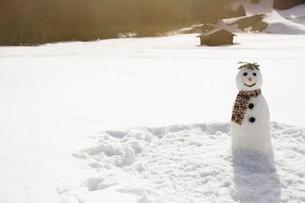 Snowman in sunny fieldの写真素材 [FYI02164250]