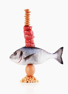 Raw healthy foods balancingの写真素材 [FYI02167535]