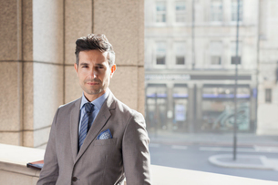 Portrait confident corporate businessmanの写真素材 [FYI02170338]