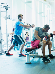 Men working out at gymの写真素材 [FYI02170437]