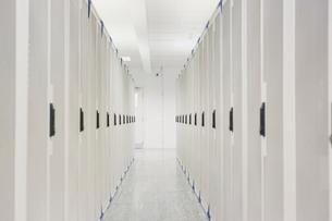White server room corridorの写真素材 [FYI02171791]