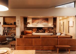 Home showcase interior living roomの写真素材 [FYI02172342]