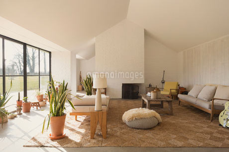 Home showcase sunny living roomの写真素材 [FYI02172411]