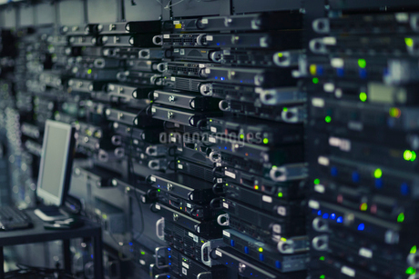 Server room rack panelの写真素材 [FYI02172506]