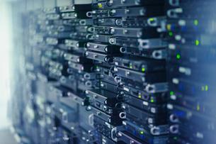 Server room rack panelsの写真素材 [FYI02172550]