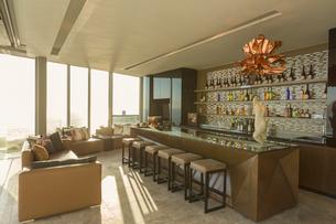 Modern luxury home showcase barの写真素材 [FYI02173401]