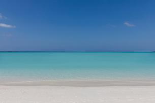 Seascape view blue tropical ocean under sunny blue skyの写真素材 [FYI02177683]