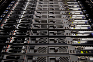 Close up server room panelの写真素材 [FYI02178063]