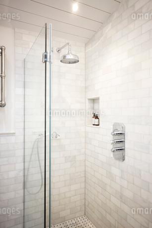 Luxury home showcase bathroom showerの写真素材 [FYI02180461]