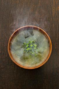 わかめのみそ汁の写真素材 [FYI02181557]