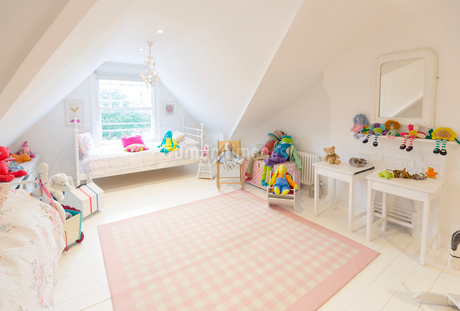 Luxury home showcase interior playroom, child's bedroomの写真素材 [FYI02181895]
