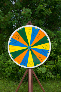 Sweden, Dalarna, Game wheel with numbersの写真素材 [FYI02189741]