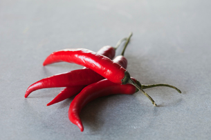 Close up of red chili peppersの写真素材 [FYI02190220]